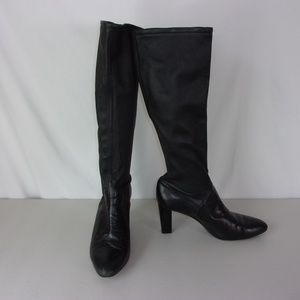 Cole Haan Heeled Boots Black Leather 10.5